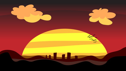 Sunset City at Dusk