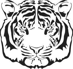 Tiger head silhouette.