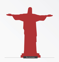 Silhouette of Cristo Redentor, Rio de Janeiro