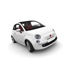 weißes Auto PKW mit roten Sitzen