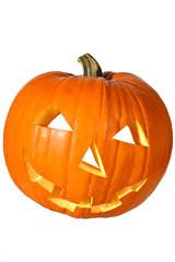 Halloweenkürbis hochkant