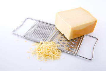 Grater with cheese