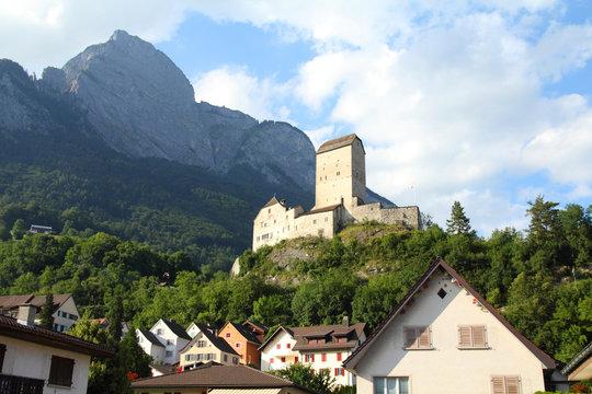 Switzerland - Sargans castle in St. Gallen canton