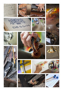Arts musique peinture dessin littérature sculpture