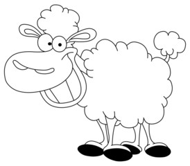 Outlined sheep