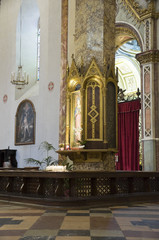 Interior St. Lorenzo Cathedral. Perugia. Umbria.