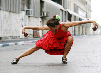 Flamenco Dancer with castanets