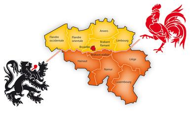 Carte belgique - séparation