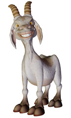 Goat cartoon smiling