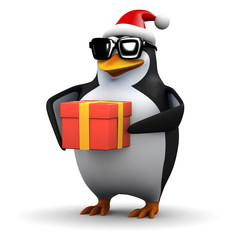 3d Penguin gets in the Christmas spirit