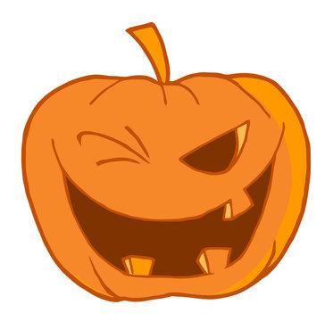 Halloween Pumpkin Winking
