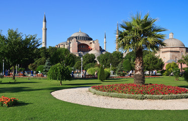 View of the Hagia Sophia, Istanbul, Turkey