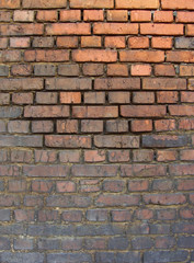 industrial very dirty brick wall black from pollution
