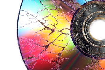 CD destroyed in the microwave
