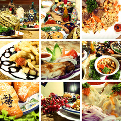 Collage of  Asian dishes
