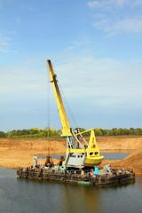 development sandpit with dredge