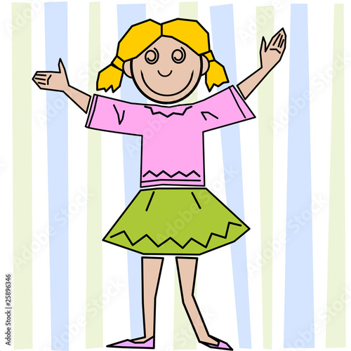 Bambina Colorata Immagini E Vettoriali Royalty Free Su Fotolia Com