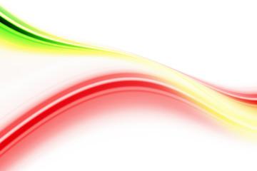 Geschwungene farbige Streifen mit Platz für Text