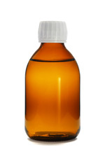 Liquid medicine in glass bottle