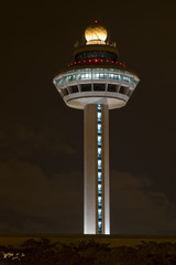 Changi Airport Controller Tower at Night 2