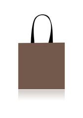 Shopping bag design, floral heart shape