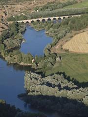 Vista aerea del Puente de piedra en Toro (Zamora)