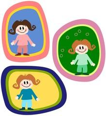 Illustration: Kinder in einer Blase