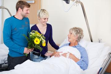 besuch im krankenhaus