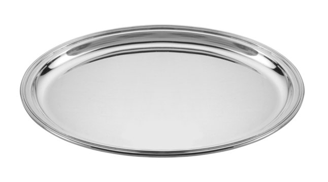 silver empty tray
