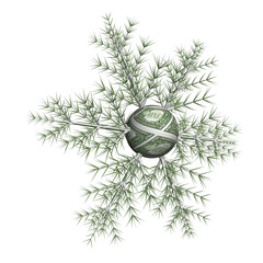 Dollar snowflake on a white background, it is isolated, 3d.