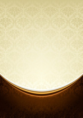 Luxury yellow and brown Background