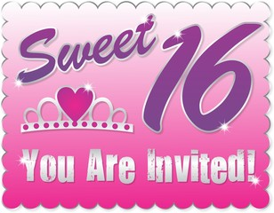 Sweet Sixteen Invitation