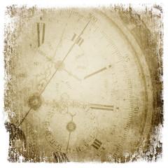 Papiers peints Retro Antique pocket clock face.