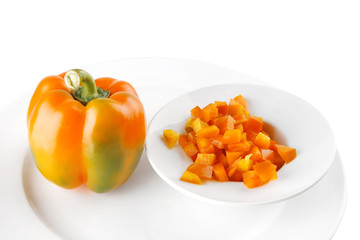 light orange bell pepper