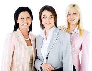 team beautiful businesswomen