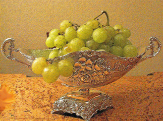 Still life with a grape
