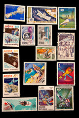 space postage stamps