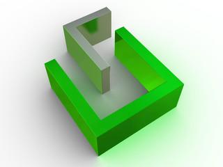 three-dimensional figure. 3d