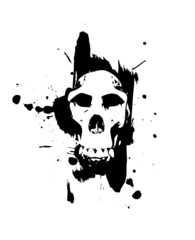 skull in splatter