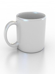 blank white cup suitable for placing logo or your text on it
