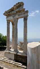 Detail of ancient ruins in Ephesus, Turkey