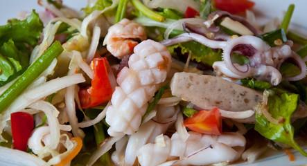 salad sea food in Thai style