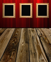 frame an red wall