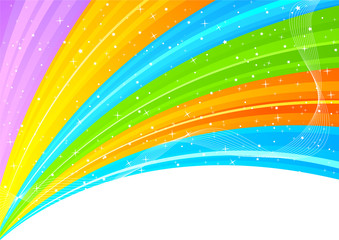 Abstract colorful background with star
