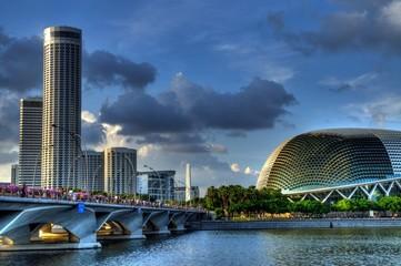 Foto op Plexiglas Singapore Esplanade Landscape