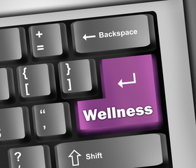 "Keyboard Illustration ""Wellness"""