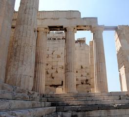 Close Up View of Propylaea, Acropolis, Greece