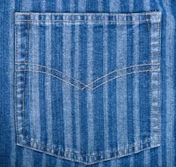 Gestreifte  Jeanstasche
