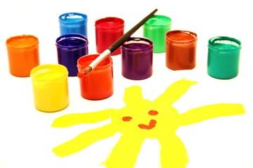 Komm , wir malen eine Sonne ...