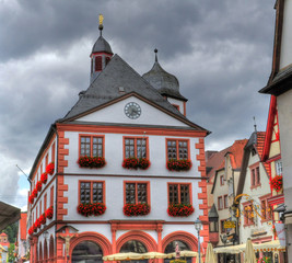 Historical buildings of a city center in Germany